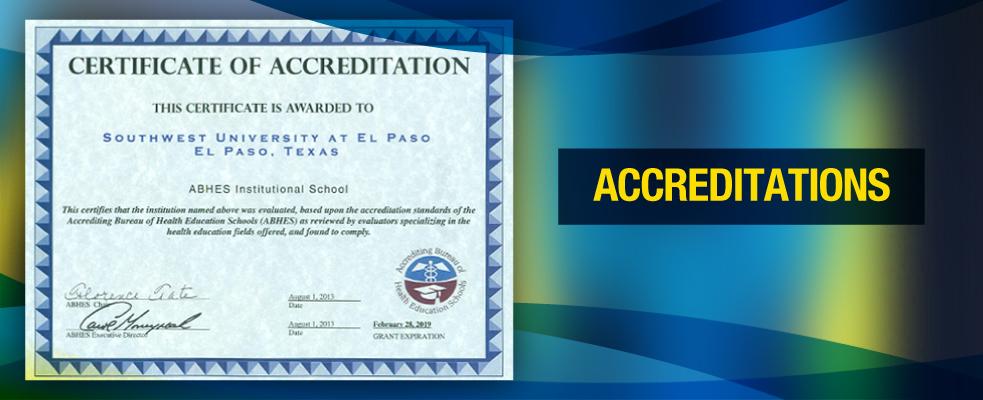 Accreditations Southwest University At El Paso